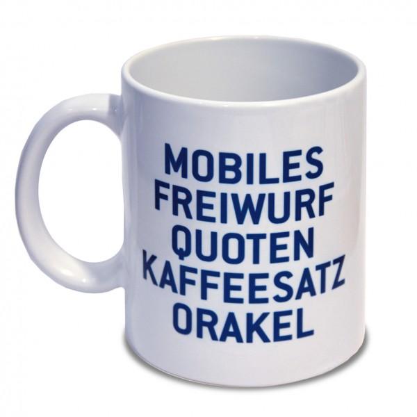 "Tasse ""Kaffesatz-Orakel"""