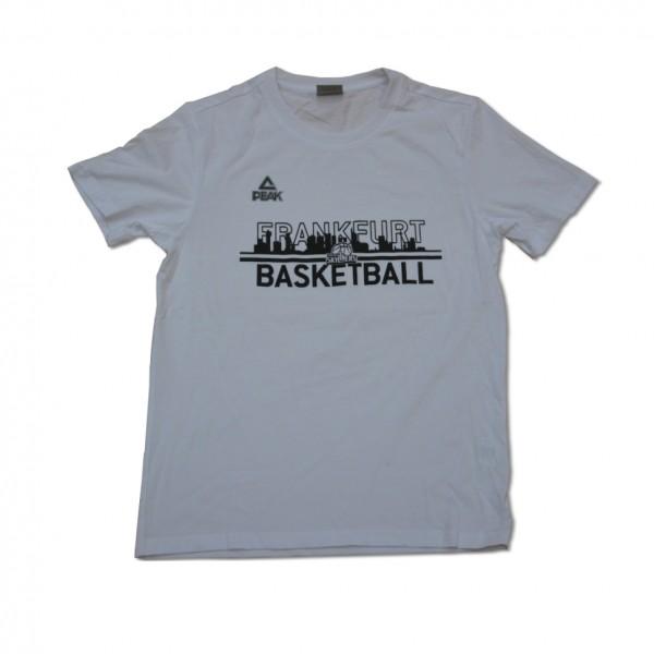 T-Shirt Frankfurt Basketball weiß