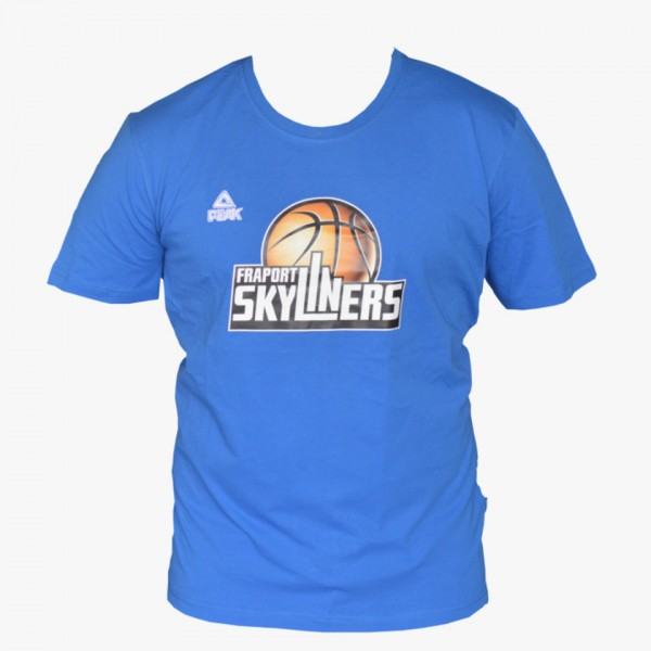 T-Shirt mit Logo (blau)
