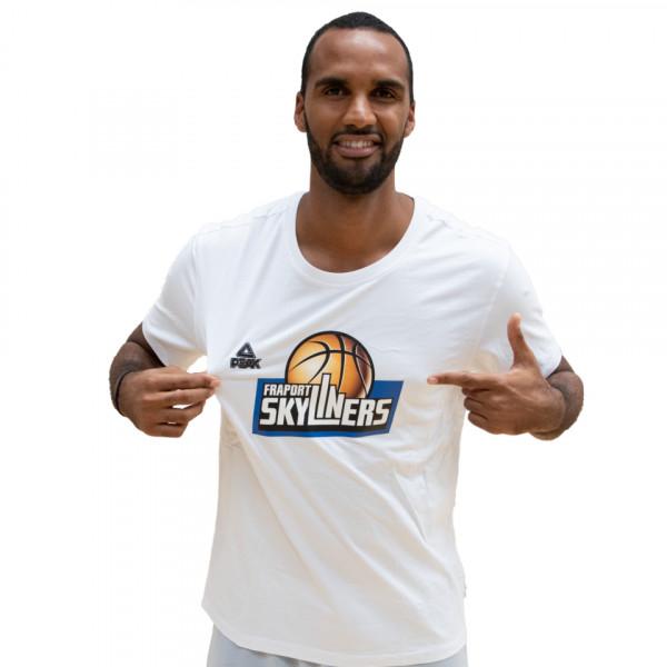 T-Shirt mit Logo (weiß)